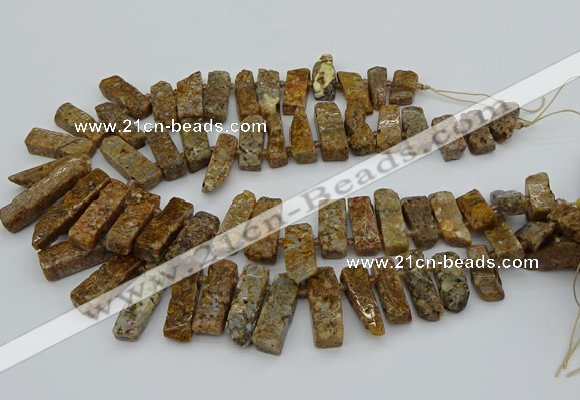 CTD3545 Top drilled 10*20mm - 12*35mm sticks opal gemstone beads