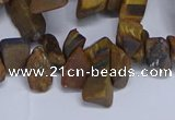 CTD3616 Top drilled 10*14mm - 13*18mm nuggets yellow tiger eye beads