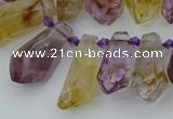 CTD3623 Top drilled 9*18mm - 16*30mm faceted nuggets ametrine beads