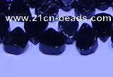 CTD3864 Top drilled 8*10mm - 10*12mm freeform black tourmaline beads