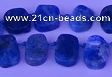 CTD3897 Top drilled 10*14mm - 13*18mm freeform apatite beads