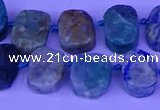 CTD3898 Top drilled 10*14mm - 13*18mm freeform chrysocolla beads