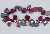 CTD4012 Top drilled 18*25mm - 25*35mm freeform agate beads