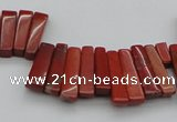 CTD403 Top drilled 4*15mm - 6*20mm sticks red jasper beads