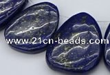CTD457 15.5 inches 25*30mm - 35*45mm freeform lapis lazuli beads