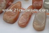 CTD485 Top drilled 10*22mm - 15*45mm freeform moonstone beads