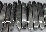 CTD529 Top drilled 10*25mm - 10*60mm wand plated agate beads
