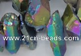 CTD551 Top drilled 12*20mm - 14*30mm nuggets plated quartz beads