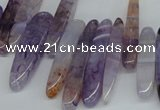 CTD583 Top drilled 6*20mm - 6*45mm wand agate gemstone beads