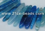 CTD587 Top drilled 6*20mm - 6*45mm wand agate gemstone beads