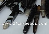 CTD589 Top drilled 6*20mm - 6*45mm wand agate gemstone beads