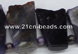 CTD659 Top drilled 25*40mm - 30*55mm freeform agate beads