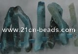 CTD674 Top drilled 10*25mm - 12*45mm wand agate gemstone beads