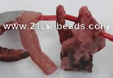 CTD679 Top drilled 12*20mm - 15*45mm freeform agate gemstone beads