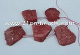 CTD761 Top drilled 25*30mm - 30*35mm freeform agate beads
