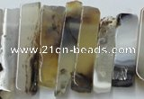 CTD831 Top drilled 8*30mm - 12*70mm sticks montana agate beads
