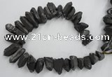 CTD923 Top drilled 15*20mm - 18*38mm wand plated quartz beads