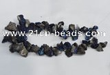 CTD945 Top drilled 10*15mm - 15*25mm nuggets plated druzy agate beads
