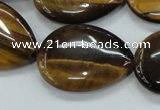 CTE102 15.5 inches 22*30mm flat teardrop yellow tiger eye beads
