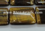 CTE108 15.5 inches 22*30mm rectangle yellow tiger eye beads wholesale