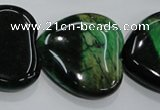 CTE1085 15.5 inches 30*30mm heart dyed green tiger eye beads