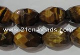 CTE1114 15.5 inches 13*18mm faceted rice yellow tiger eye beads