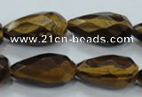 CTE117 15.5 inches 14*26mm faceted teardrop yellow tiger eye beads
