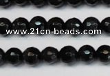 CTE1185 15.5 inches 6mm faceted round blue tiger eye beads