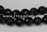 CTE1186 15.5 inches 8mm faceted round blue tiger eye beads