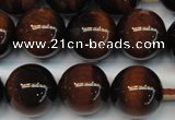 CTE1270 15.5 inches 10mm round AB+ grade red tiger eye beads