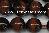 CTE1272 15.5 inches 14mm round AB+ grade red tiger eye beads