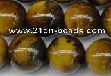 CTE1314 15.5 inches 14mm round B grade yellow tiger eye beads