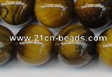 CTE1315 15.5 inches 16mm round B grade yellow tiger eye beads