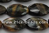 CTE1374 15.5 inches 22*30mm faceted oval yellow & blue tiger eye beads