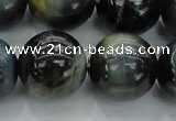 CTE1458 15.5 inches 20mm round golden & blue tiger eye beads