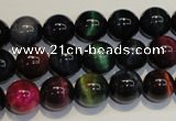 CTE148 15.5 inches 10mm round colorful tiger eye beads wholesale