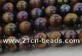 CTE1501 15.5 inches 6mm round AB-color yellow tiger eye beads