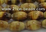 CTE1517 15.5 inches 10*14mm rice golden tiger eye beads wholesale