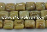 CTE1525 15.5 inches 8*8mm square golden tiger eye beads wholesale