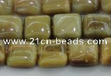 CTE1527 15.5 inches 12*12mm square golden tiger eye beads wholesale