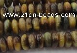 CTE1545 15.5 inches 4*6mm rondelle golden & blue tiger eye beads