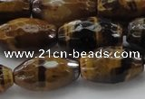 CTE1582 15.5 inches 12*16mm faceted rice yellow tiger eye beads