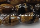CTE1583 15.5 inches 13*18mm faceted rice yellow tiger eye beads