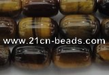 CTE1596 15.5 inches 12*16mm drum yellow tiger eye beads
