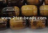 CTE1597 15.5 inches 13*18mm drum yellow tiger eye beads
