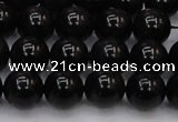 CTE1612 15.5 inches 8mm round A grade black tiger eye beads