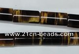 CTE166 15.5 inches 10*20mm column yellow tiger eye gemstone beads