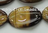 CTE1720 15.5 inches 25*35mm oval yellow tiger eye beads wholesale