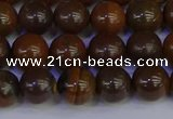 CTE1782 15.5 inches 8mm round yellow iron tiger beads wholesale