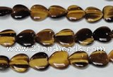 CTE179 15.5 inches 10*10mm heart yellow tiger eye gemstone beads